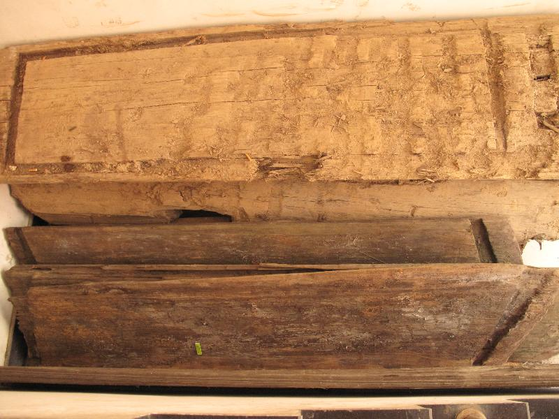 战汉金丝楠木棺材板