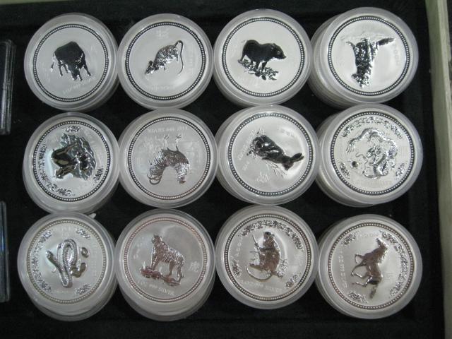 澳大利亚十二生肖银币