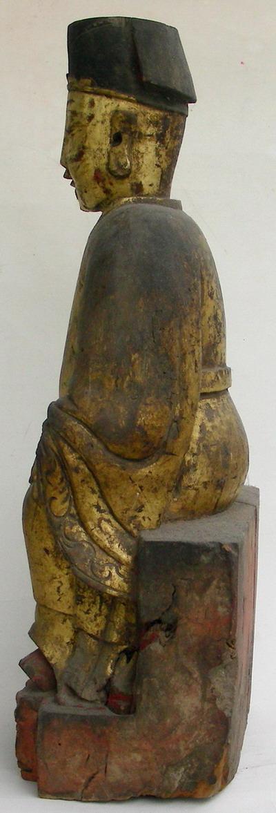 佛像-- 清*精雅祥和鎏金香樟木老造像