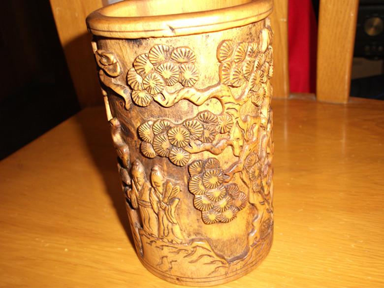 黄杨木雕刻笔筒 - 综合自由交易区 - 正华海南黄花梨
