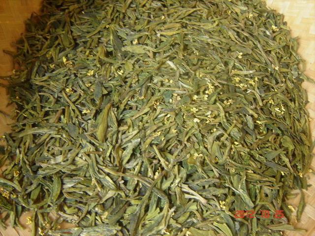 桂花龙井茶(用雨前茶加工的)-各地土特产 自家茶叶,低价出售2012
