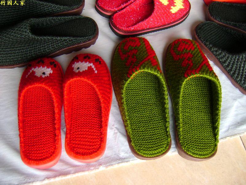 拖鞋/纯手工编织/可爱图案/居家鞋/保暖拖鞋/结婚