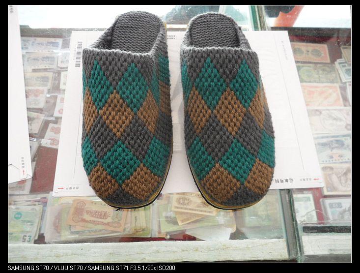 3双毛线拖鞋,纯手工钩的