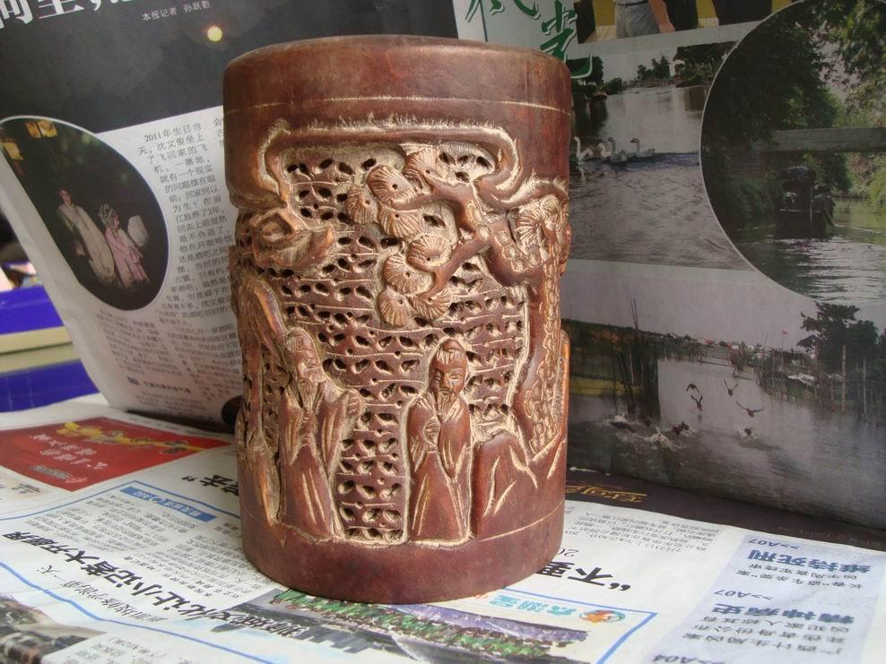 古玩竹木雕漆器