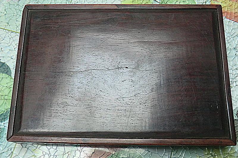 盘;清代紫檀木雕观音