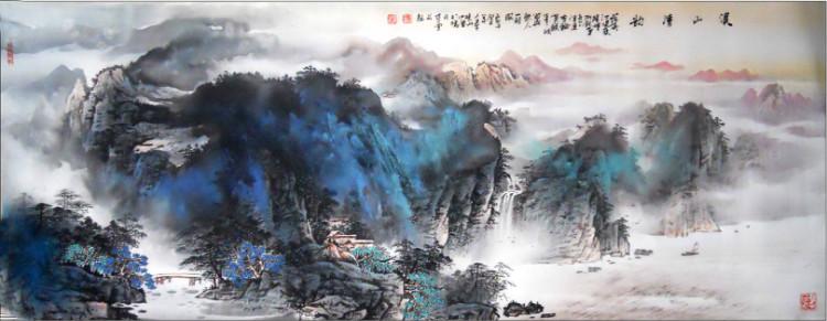 潜力泼墨山水画家(覃晓兵)国画作品-收藏精品