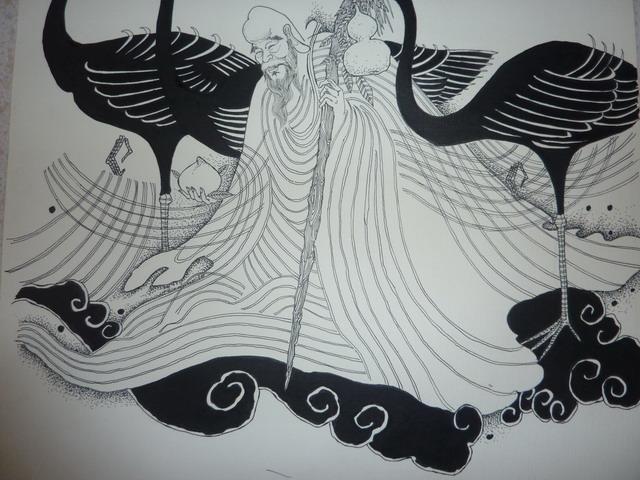 一张水笔画