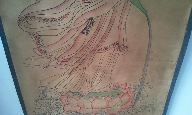 观音菩萨纹身手稿线条分享展示图片