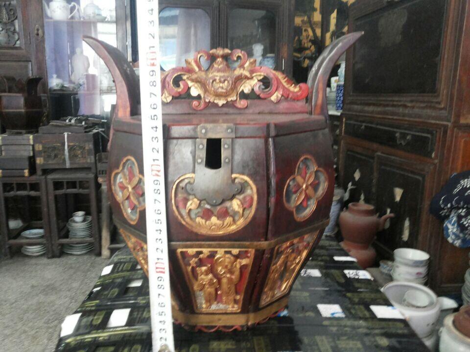 雕工精美的古代茶壶桶2个