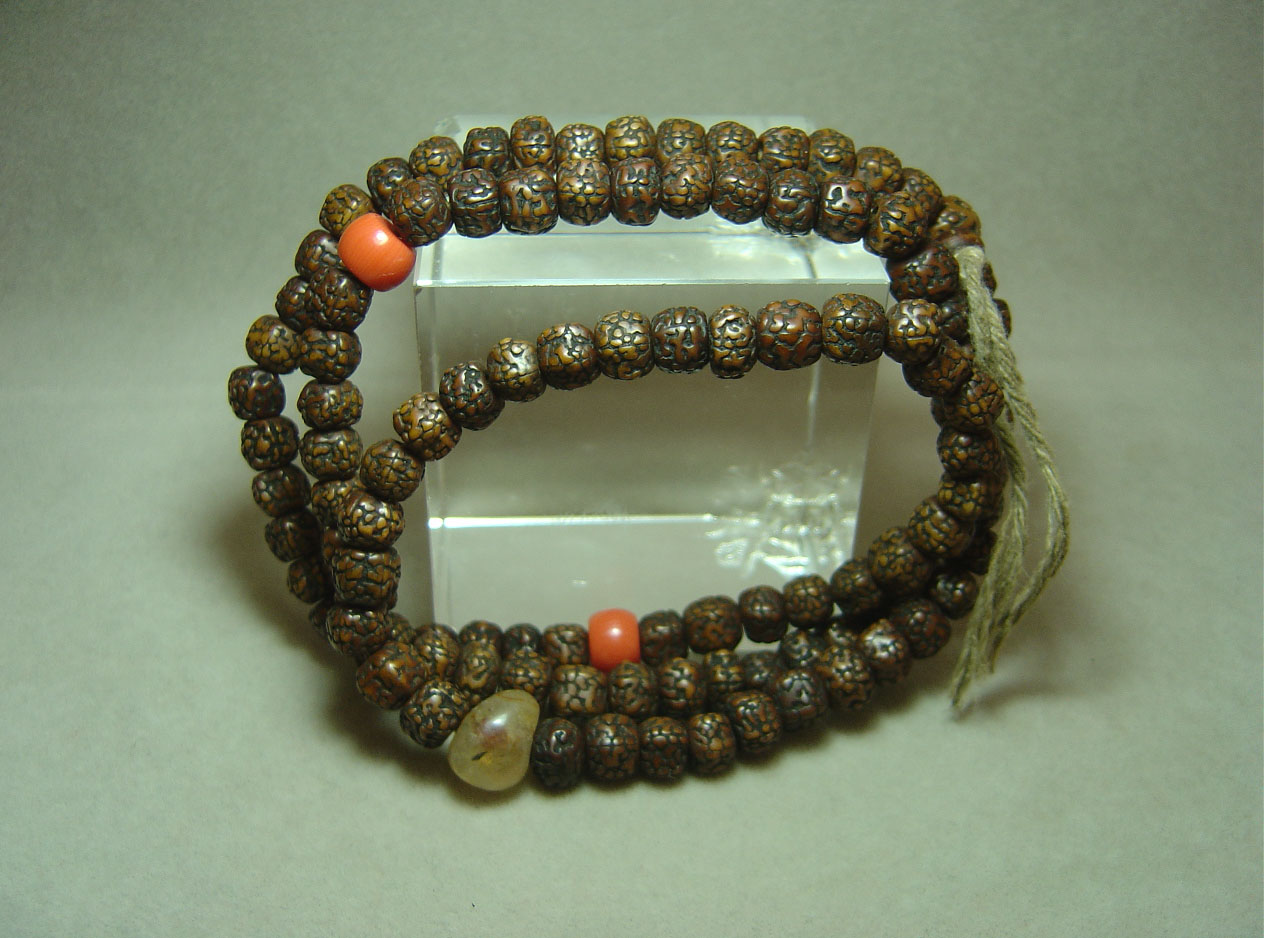 清代108颗藏式小金刚菩提子念珠图片
